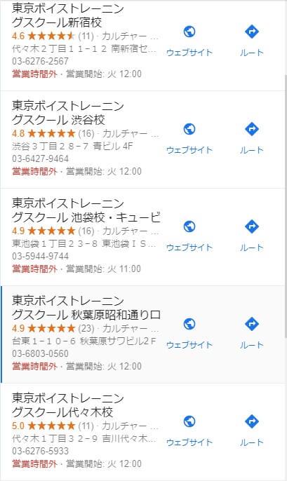 東京ボイストレーニングスクールの評価